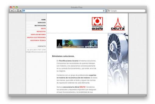 Sitio web Rectificaciones Acosta - home