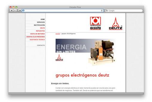 Sitio web Rectificaciones Acosta - sección