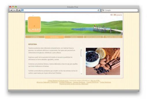 Sitio web Almibar - sección
