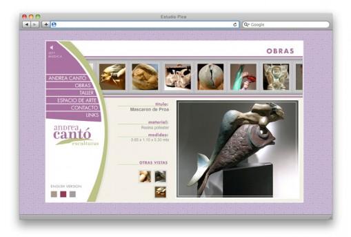Sitio web Andrea Cantó - artista