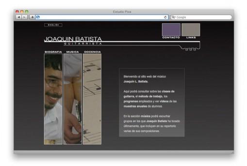 Sitio web Joaquín Batista - home
