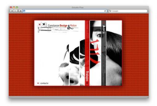 Sitio web Constanze Design - home