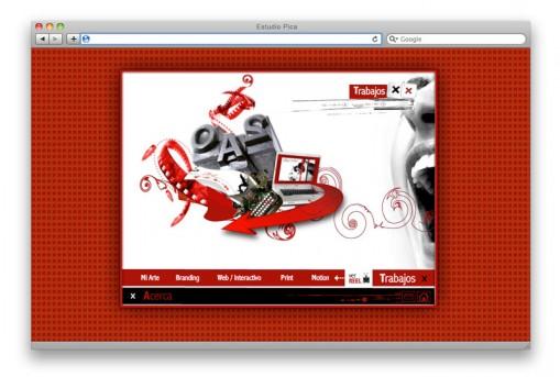 Sitio web Constanze Design - sección