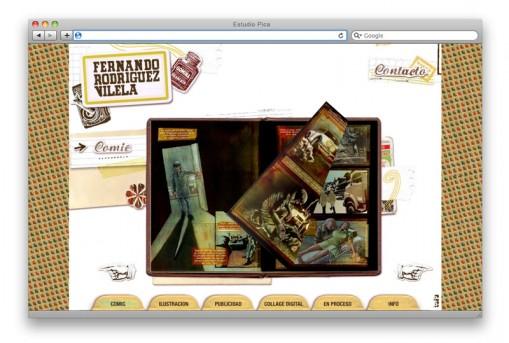 Sitio web ilustrador Lord Gaita - sección