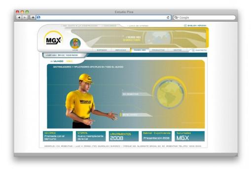 Sitio web institucional Megaflex - sección