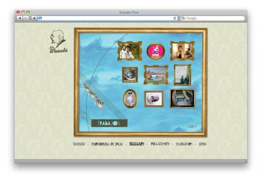 Sitio web Sr. Wanatú - sección