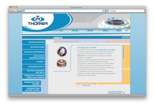 Sitio web Thorsa - sección