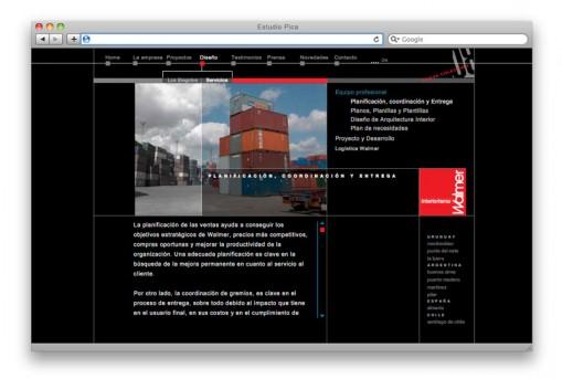 Sitio web Walmer - sección