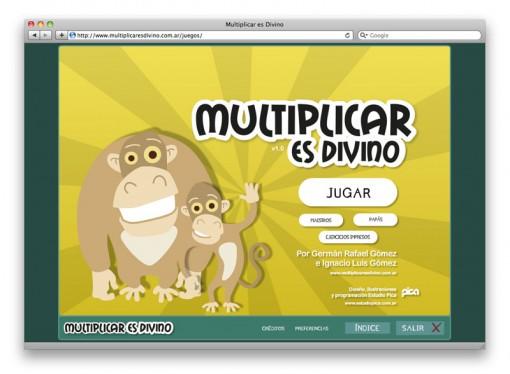 Multiplicar es Divino - menu
