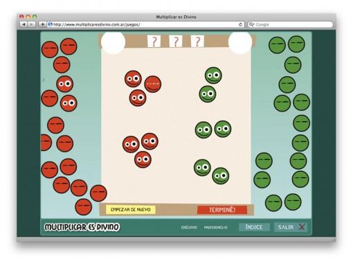 Multiplicar es Divino - juego múltiplos comunes