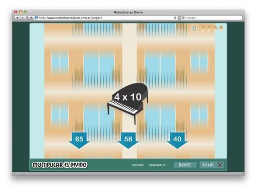 Multiplicar es Divino - juego tablas 4 y 8