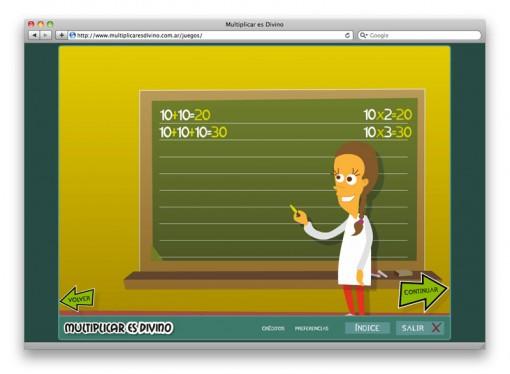 Multiplicar es Divino - una alumna